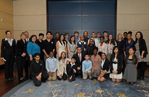 East-West Students and Mrs. Katz at Asia Society with US Ambassador, Gary Locke