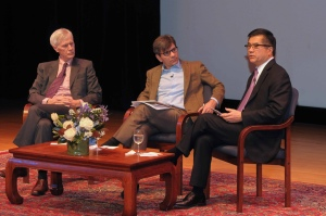 ABC's Chief Political Correspondent, George Stephanopoulos, interviewing US Ambassador, Gary Locke