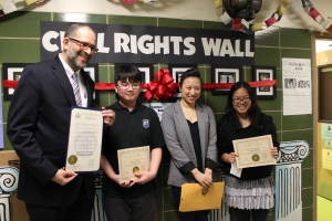Our essay contest winners, Yuxiong Jiang and Lorin Cheung