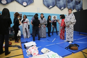 Students participated in hands-on cultural activities...