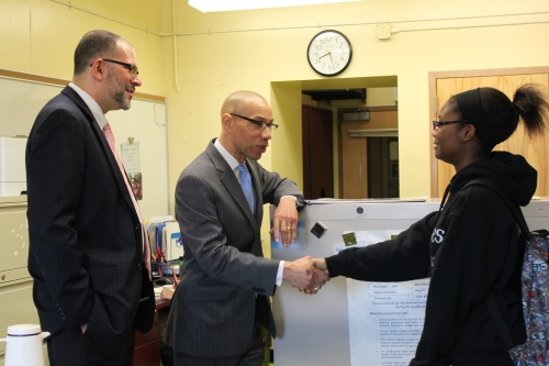 Saphya Council meets with Chancellor Walcott