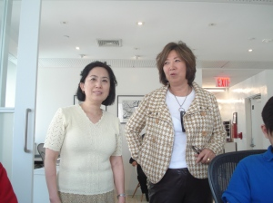 Mrs. Rhi and Ms. JJ Falk, a 1st generation Korean, CEO of JJFD Interior Designing Company