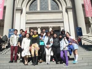 Korean 2 students visit Metropolitan Museum of Art
