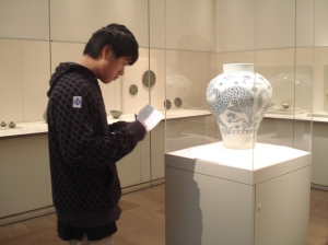 Students explored the Korean Arts section at the MET.