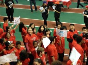 "Olympic-style opening ceremony, a parade of 1,200 ""mathletes""."