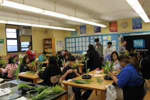 Our students had the opportunity to design and build their own plant and flower arrangement.