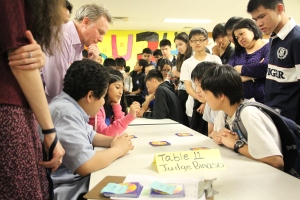 There was an overwhelming attendance from parents, students, and staff at this event.
