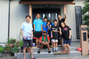 My host family Sakakibara, Junda, Douglas, and I in a photo on our last day.