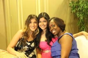 Jimena with Ms. Marinos and Ms. Washington