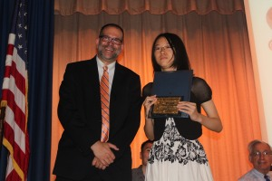Alice Cheng receiving the Academic Excellence Award
