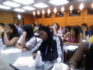 Our students at a lecture on modern Japanese history in Tokyo.