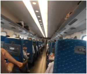 Inside Shinkansen (Japanese Bullet Train)
