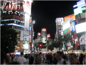 Shibuya, one of Tokyo's shopping district.