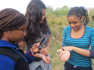 Some students took time to enjoy nature at its best