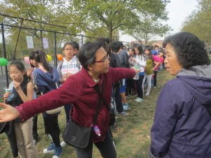Ms. Hu was also in charge of crowd control