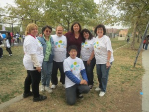 Ms. Dorothy Woo standing, second from the left, with Kissena Park Corridor Conservancy members, Congresswoman Meng, and Cheng Rong Shi