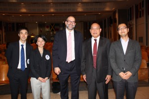 From l to r: Takeshi Yoshida and Noriko Yamamoto from The Japan Foundation, Principal Sherman, Principal Otake, and Consul Jun Ishihara