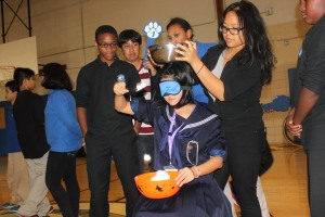Students participated in fun and games