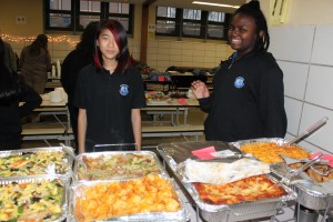 Generous donation of food from staff and students
