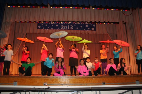 Middle School Class 604 Chinese Umbrella Dance