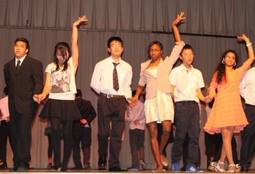 High School Period 4 performing the Rumba