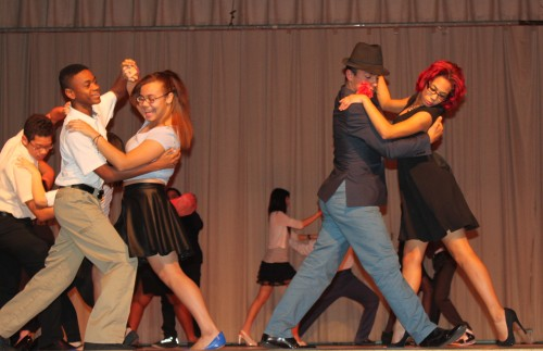 High School Period 5 Students performing the Tango