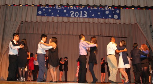 High School Period 1 Students performing the Salsa