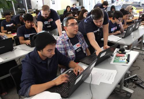 Angel Vargas was in part of the second group of CodeNow graduates in NYC