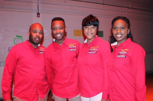 From left to right, Timotheus Peay, Christopher Brasfield, Stevanie Williams and Dionne Carole