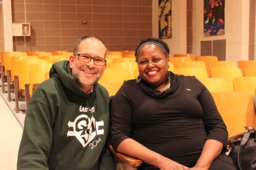 Mr. Sherman with Mrs. Cohen, East-West Community Advisory Board Member and NAACP NEQ Chapter Leader