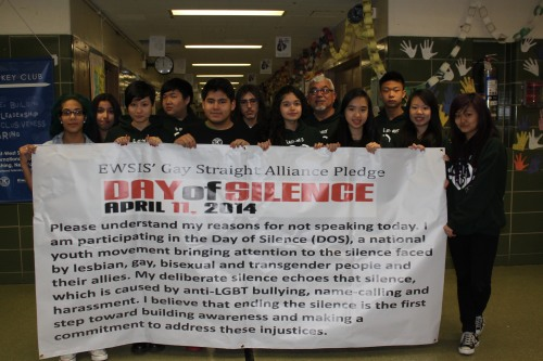 Members of GSA stand united in support of Day of Silence