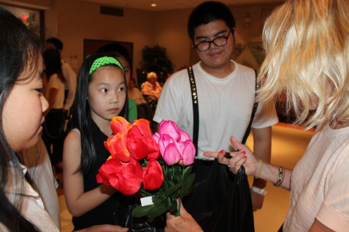 Cards, Gifts, and Flowers were given to the residents.
