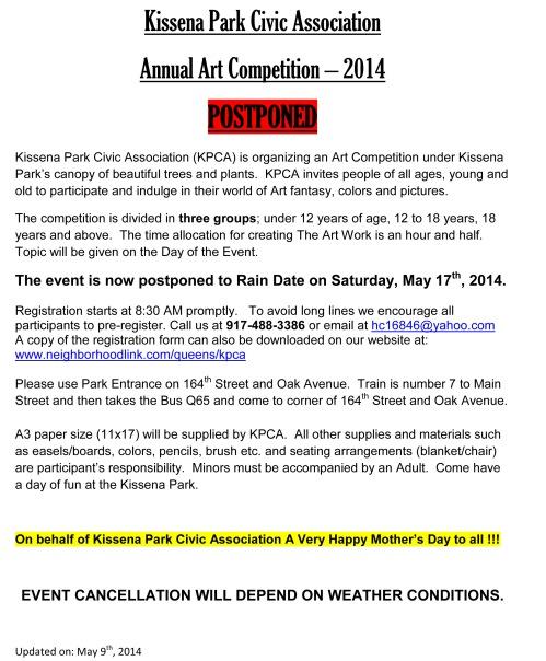 KPAC PRESS RELEASE for Postponed - AAC 2014