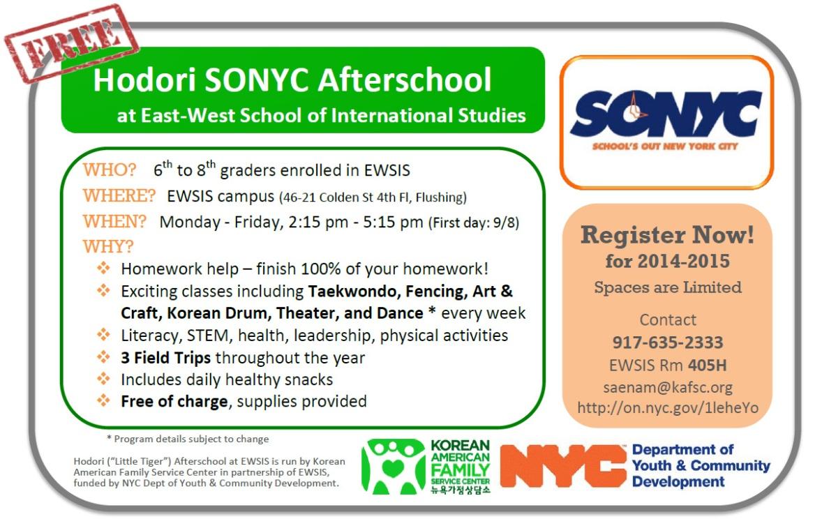Hodori SONYC Afterschool Program