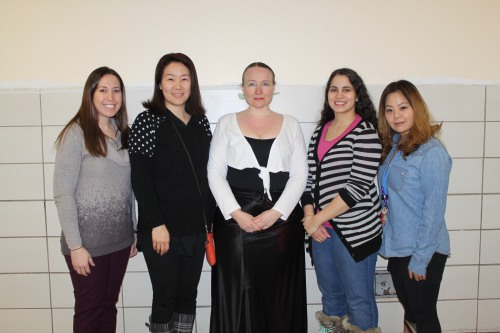 From left to right: Ms. Silverman, Ms. Kim, Ms. Karen, Ms. Luz, and Ms. Choi