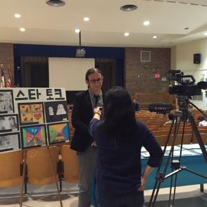 Mr. Kleiman getting interviewed by TKC TV