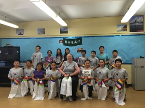 Korean dance class with Ms. Karen from the Korea Society of New York