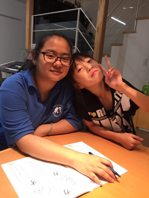 Kaiwen spent some quality time with her host sister.
