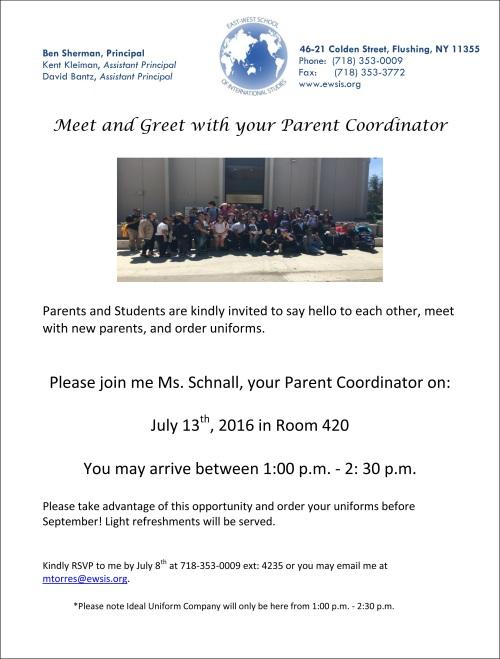 Meet and greet with your parent coodinator life at east west meetandgreet m4hsunfo