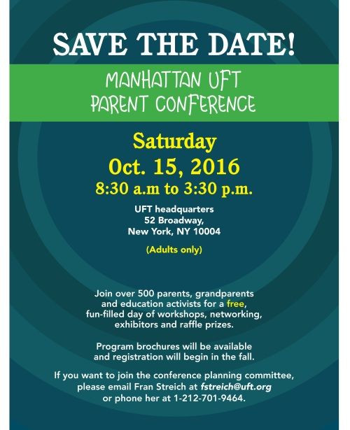 UFT Manhattan-Parent-Conference-2016 English-Spanish-1