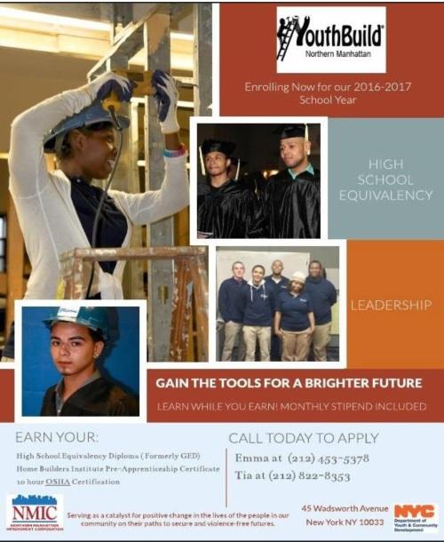 YouthBuild Learn to Earn 2016-17 Program