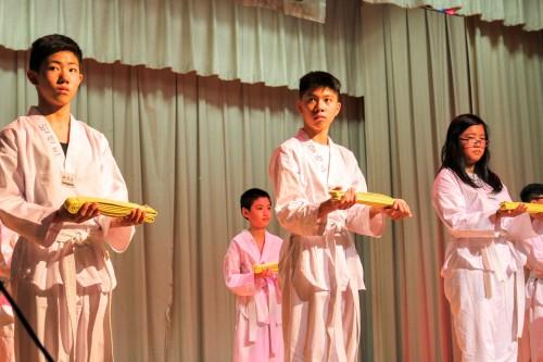 Our Taekwondo Class graduating to Yellow Belt