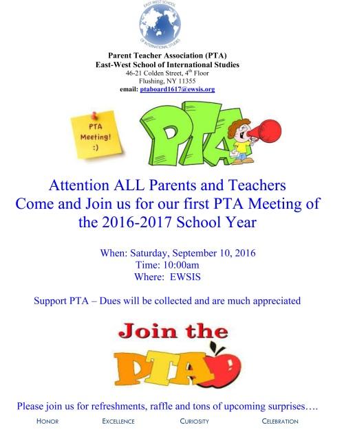 PTA FLYER_92016PTA Meeting