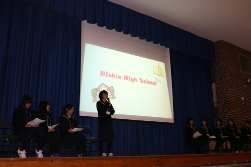 Our high school students were treated to a special presentation about Japan and Nishio High School.