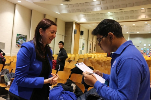 Our Editor-In-Chief of the school newspaper, The Eclipse, Shahram Rahman, interviewed the Assemblywoman.